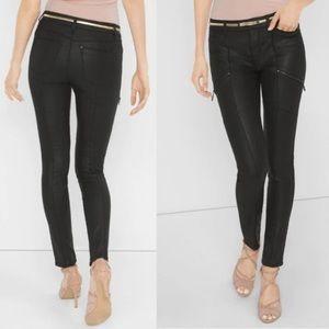 WHITE HOUSE BLACK MARKET skinny faux leather pants